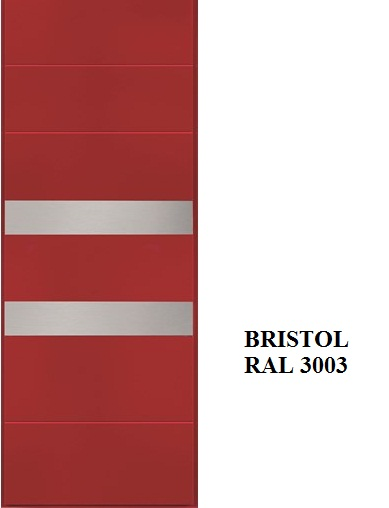 Bristol - RAL 3003 inserti acciaio