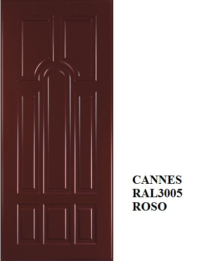 Cannes - Rosso india RAL 3005