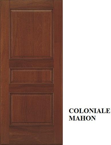 Coloniale con cornicetta - Mogano tinto