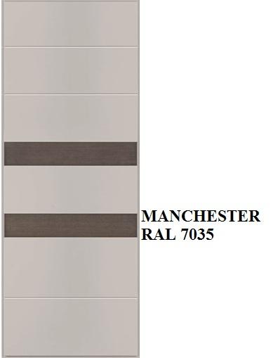 Manchester - RAL 7035 inserti Rovere grigio